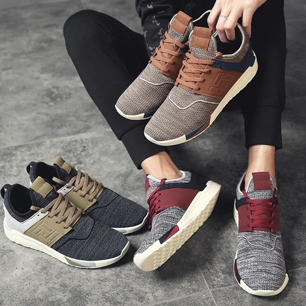 Men's Walking Running Shoes Mens Breathable Casual Men Sneakers basket homme Mesh PU Mens Shoes