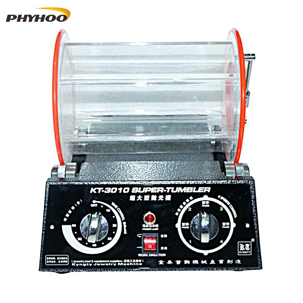 KT-3010 Bijoux De Polissage Machine De Polissage Rotatif Machine Enlever La Rouille bavure Métal Coin Machine de nettoyage 220/110 v