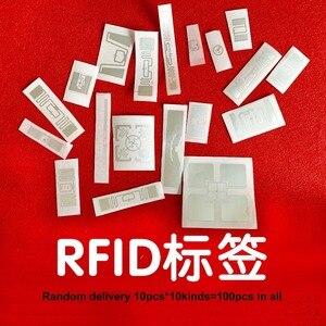 Image 1 - UHF RFID adesivi RF passivo tag 10 tipi campioni consegna Casuale 100pcs in tutto solo per il test di 6C 860 960MHz