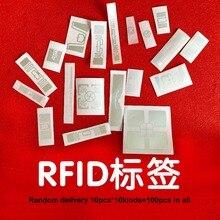 UHF RFID çıkartmalar RF pasif etiketleri 10 çeşit örnekleri rastgele teslimat 100 adet tüm sadece test 6C 860 960MHz