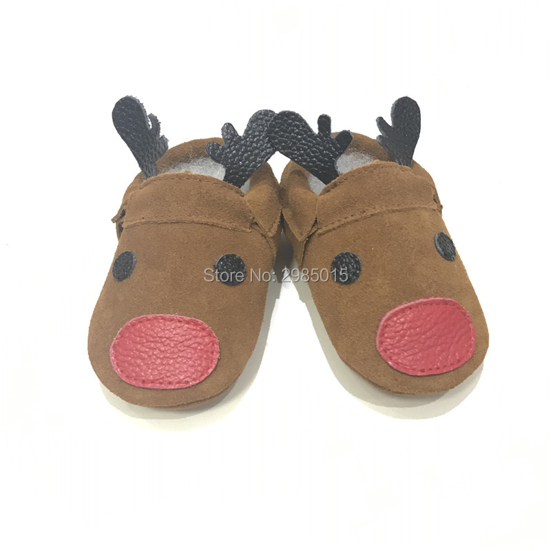 New Christmas reindeer Baby Shoes Baby Loafers Shoes Baby Shoes