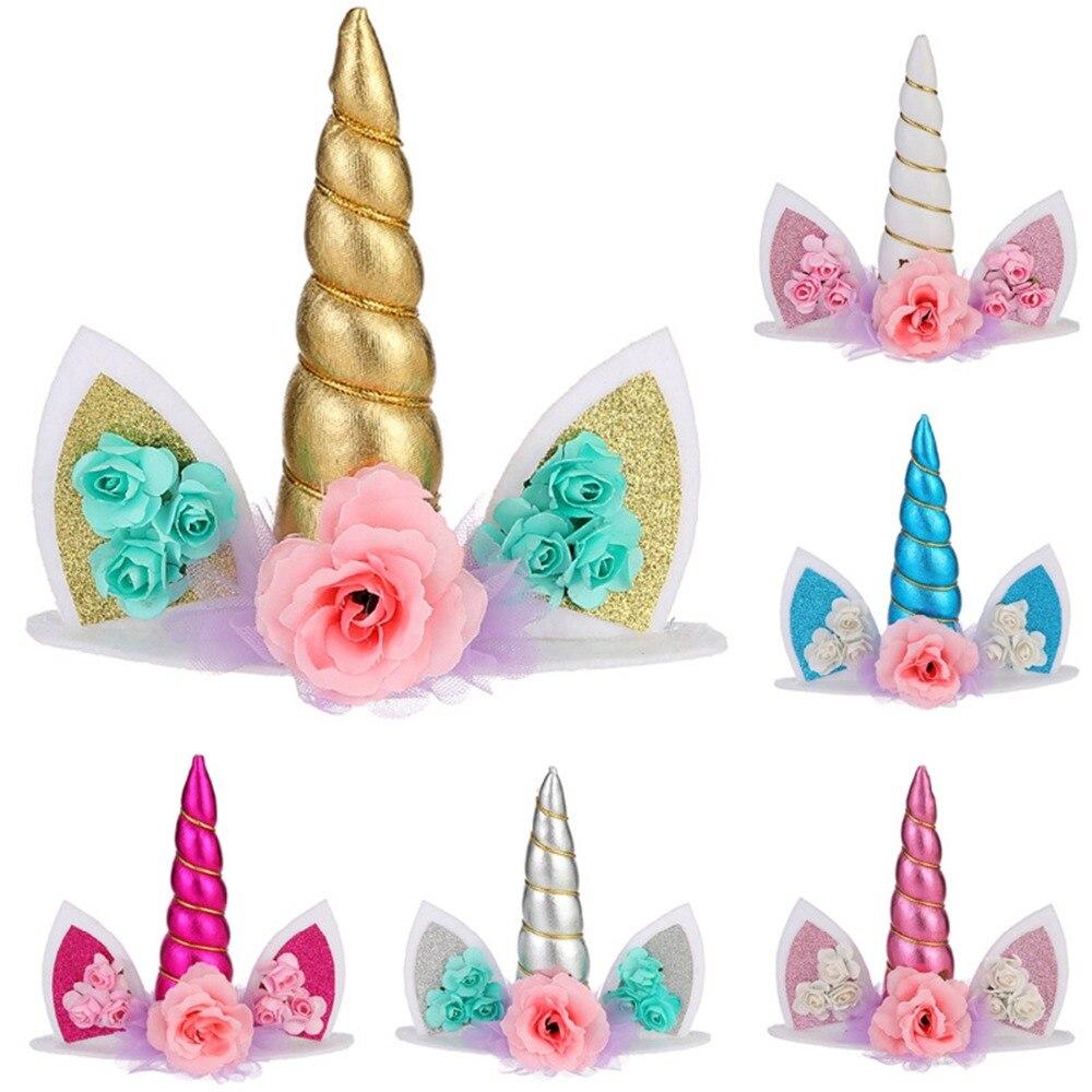 Unicorn Cake Topper Decoration Party Decorations Supplies Birthday Kids Wedding