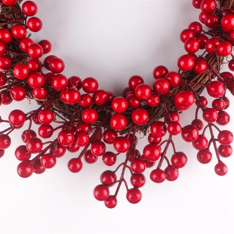 Image 3 - 2019 New Creative Christmas Wreath Artificial Berry Hanging Wreath Door Wreath For Home Yard Decor Christmas Hanging Ornament-in Wreaths & Garlands from Home & Garden