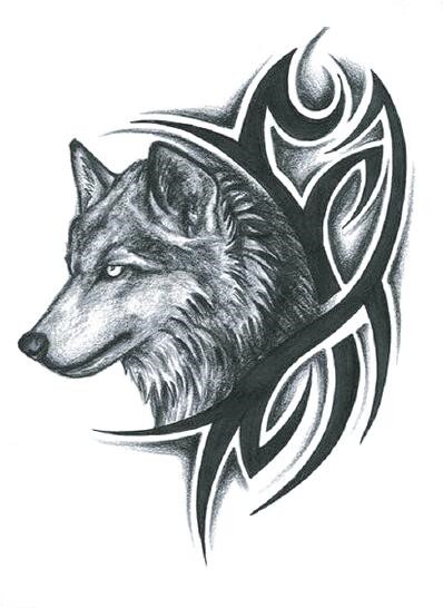 Waterproof Temporary Fake Tattoo Stickers Grey Wolf Large Cool Design Body Art Make Up Tools