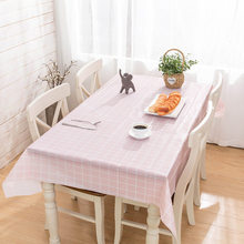 Peva lavável à prova dwaterproof água toalha de mesa liso tingido festa de aniversário do casamento capa de mesa retângulo pano limpar capa óleo livre branco