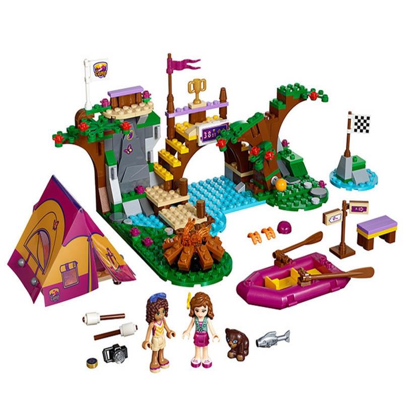 BELA Building Blocks 10493 Friends Figures Adventure Camp Rafting 41121 Model Toy For Children
