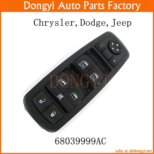 New Door Master Window Switch OEM 68039999AC for Chrysler Dodge Jeep 7pcs oem chrome headlight master window