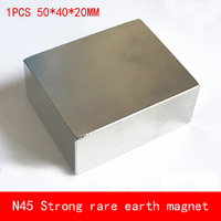 1PCS 50 40 20mm Large Block N45 Strong Magnetic Force NdFeB Rare Earth Neodymium Magnet Permanent