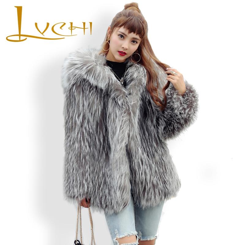 LVCHI Grey Winter Coats Women Keep Warm Street Style Vest ...