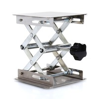 100 100mm Stainless Steel Stainless Steel Mini Lab Stand Lifting Platform Desk Laboratory Tool Adjustable