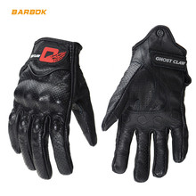 Goatskin Leather Motorcycle Gloves Motocross off Road Men Women Glove Motorbike Touch Screen Racing Safety Hands Protection motorcycle off road racing rider anti touch screen leather gloves