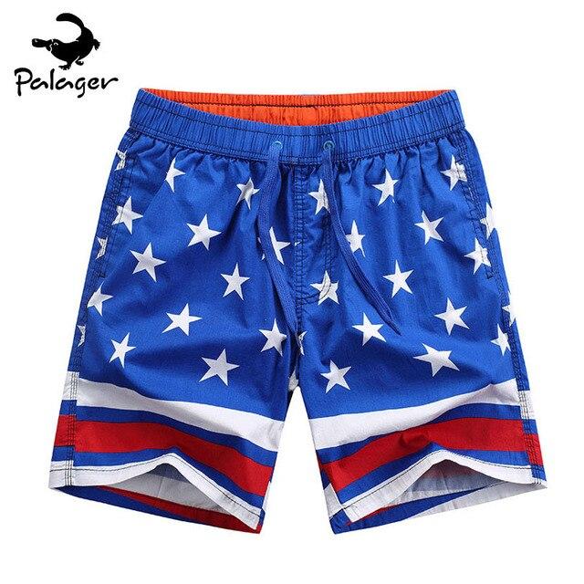 9e307cf497 Palager Board Shorts Men American Flag Beach Shorts Men Stars USA July 4th  Cotton Brand Shorts Men Plus Size XXXL 2359-765