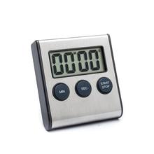 Edle Edelstahl Oberfläche Digital Küche Kochen Timer mit Magnet, Count Up Countdown-zeit Erinnerung Alarm 99 minute: 59 zweite