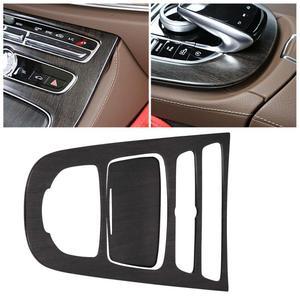 Image 2 - Yeni 1 çift konsol dişli paneli çerçeve konsol vites paneli kapak Trim Mercedes Benz e class için W213 2016 2017 2018 yeni gelmesi