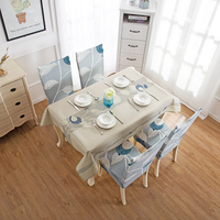 Household dining desk cover Nordic waterproof tablecloth cotton and linen cartoon coffee table cloth