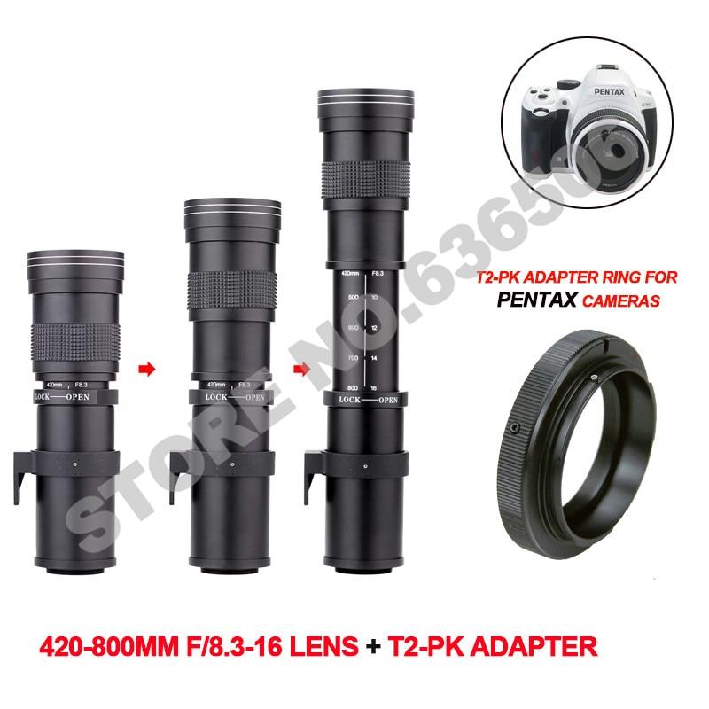 420-800mm F/8.3-16 Super Telephoto Lens Manual Zoom Lens for Pentax DSLR Camera420-800mm F/8.3-16 Super Telephoto Lens Manual Zoom Lens for Pentax DSLR Camera