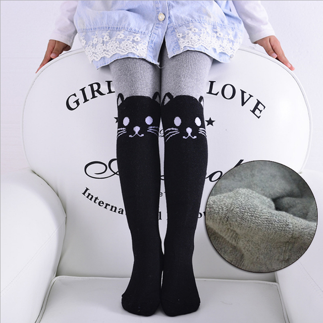 403bc9f54e80 children s tights for girls stockings warm kids winter tight black grey  thick terry baby girl pantyhose