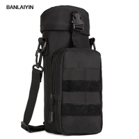 Men Waterproof 1111D Nylon Shoulder Messenger Water Bottle Bag Military Molle Kettle Hydration Pouch Waist Pack