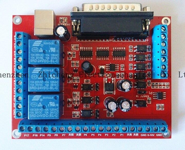 6 Achsen CNC MACH3 Graviermaschine Schnittstelle Breakout Board PWM Spindel