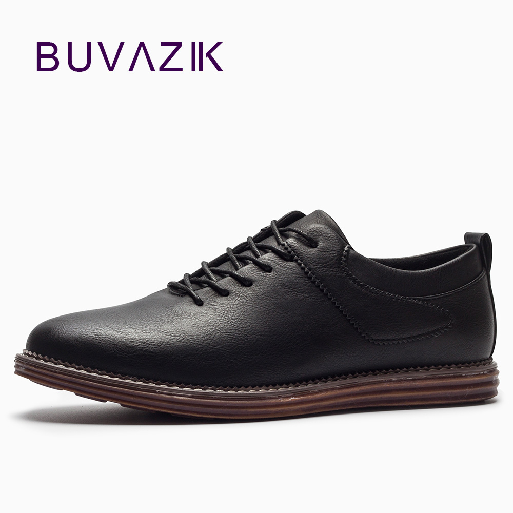 2018 Spring fashion casual shoes men wild British style oxford high quality Microfiber split leather flats male black brown 2017 spring autumn breathable white wild men casual shoes 100% handmade pigskin leather comfort men shoes high quality size40 44