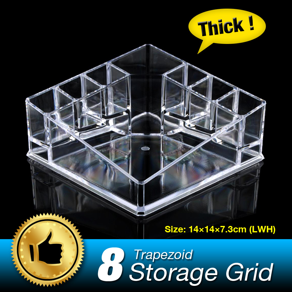 8 Grids Skin Care Organizer Make up Storage box Lipstick Display Box Cosmetic Holder Case Top grade Clear Acrylic EQC357