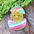 Free Shipping Cute Rhinestone Pendants Cartoon Yellow Chick Pendant Fashion Accessories Figure Charms 10Pcs/Lot