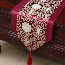 Damask table cloth Chinese rural wealth auspicious porcelain bed  Tang style classical runner tarpaulin fabric