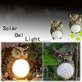 Envío Libre Creativo Iluminación Lámpara al aire libre Jardín Patio de Luz Solar Búho de Aves Decorativas Garden Party Decor Light Regalo