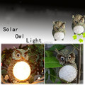 Free Shipping Creative Solar Owl Light Garden Yard Decorative Bird Lamp outdoor Lighting Garden Party Decor Light Gift