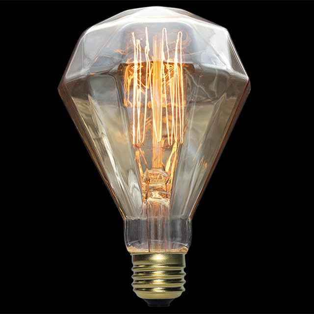 Lumiparty 110v 40w E27 Diamond Shape Vintage Edison Light Bulb For Living Room Dining Bedroom