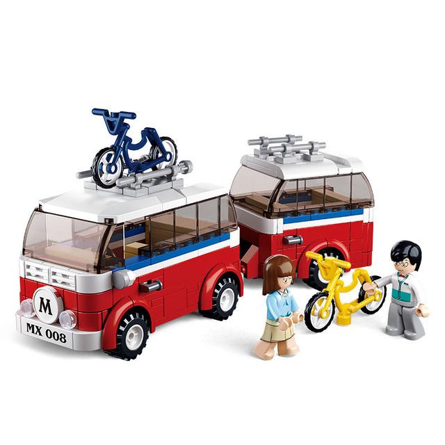 324 unids sluban simcity autocaravanas mi forge mundo mini minis bloques de construcción juguetes de los ladrillos niños juguetes compatible con leping