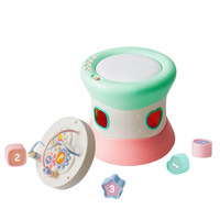 Multi function Toddlers Toys Early Education Hand Drums Toys Combination Set Music Beaded Blocks Learning Toys Dropshiping