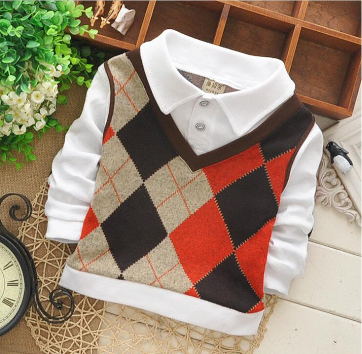 Factory direct sales of new fashion 3-6 year old male and female baby autumn long-sleeved plaid shirt