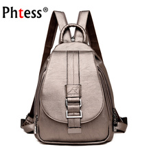 2019 Women Leather Backpacks High Qaulity Vintage Sac A Dos Ladies Bagpack Travel Preppy Female  Mochilas School Bags for Girls