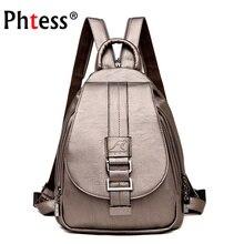 2019 mulheres mochilas de couro alta qaulity vintage sac a dos senhoras bagpack viagem preppy feminino mochilas escolares para meninas