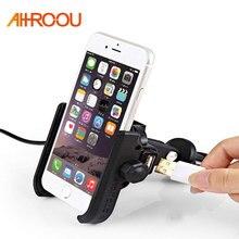 AHHROOU Universal de aleación de aluminio de la motocicleta soporte para  teléfono para iPhoneX 8 7 6 apoyo teléfono Moto soporte. 95e83e2473cc