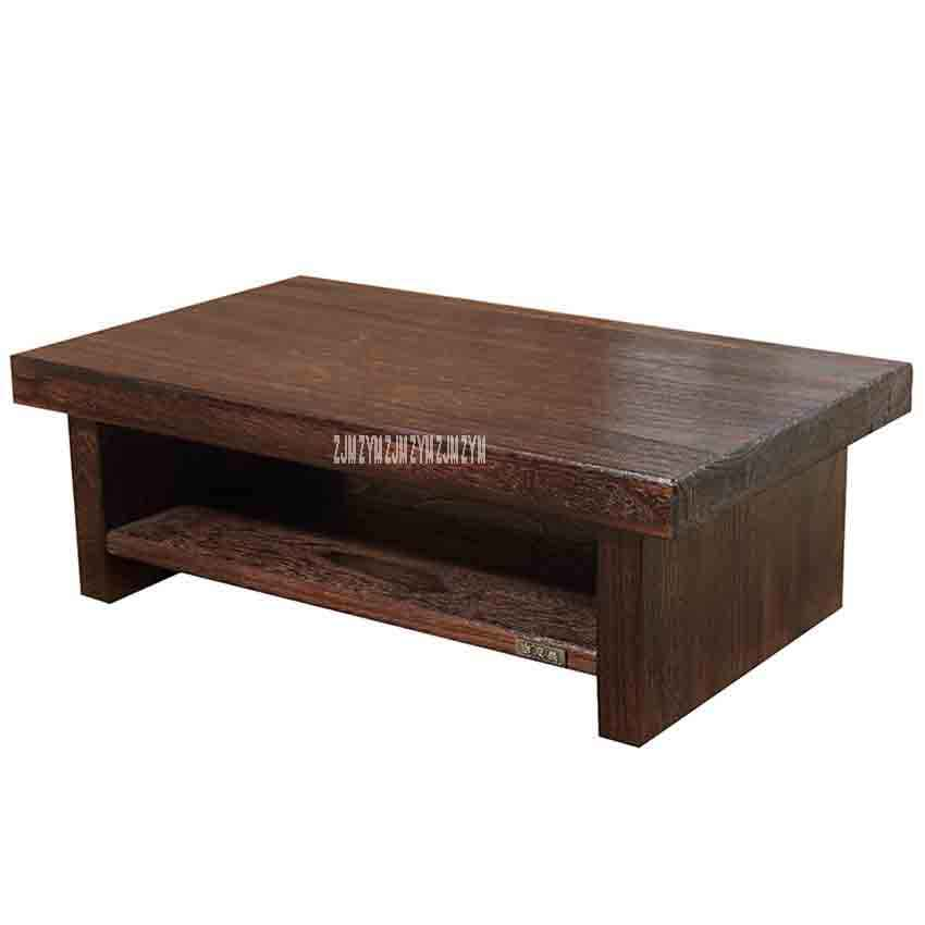 New Tatami Small Coffee Table Anese Style Solid Wood Antique Tea Rectangle Computer Living Room Wooden