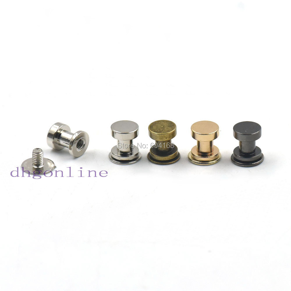 itm button cf back stud leather nail brass solid arc screw rivet uk