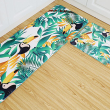 Non Slip Tropical Plants And Animals Printed Carpets