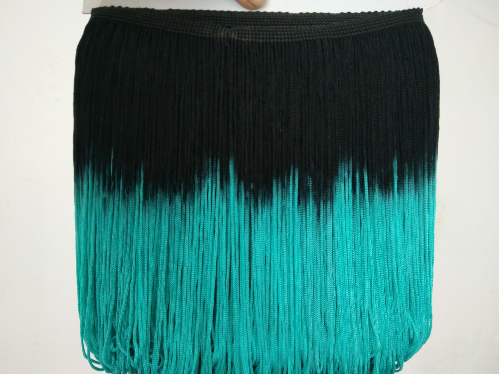 10 m 20 CM Long Polyester Fringed Edge Trim African Lace Ribbon Diy Latin Dance Clothes
