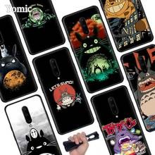 My Neighbor Totoro Anime Black Soft Case for Oneplus 7 Pro 7 6T 6 Silicone TPU Phone Cases Cover Coque Shell