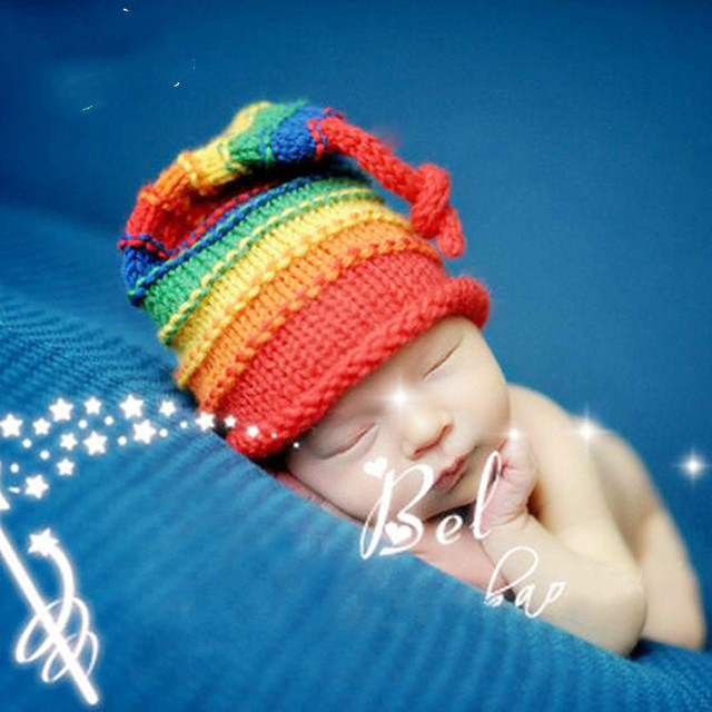 baefe540c Designer Children Kids Baby Boys Girls Cute Cotton Rainbow Color Toddler  Infant Hats Baby Beanis Accessories
