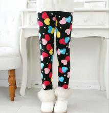 VEENIBEAR Winter Warm Girls Leggings Star Print Girls Pants Kids Children Elastic Waist Girls Trousers Clothing 2-8T