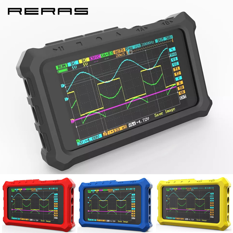 Yellow Silicone Case for DS213 Mini Pocket Size Digital Portable Storage Oscilloscope with 1Pcs Ring Bracket Oscilloscope Silicone Case