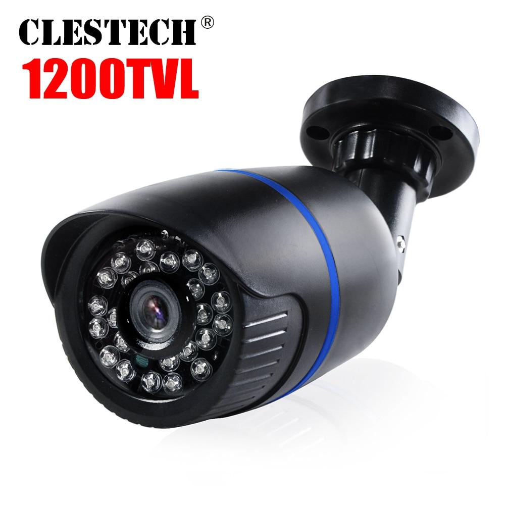 Analoog 1 / 3Cmos 1200TVL Beveiliging Surveillance Alle Ful HD CCTV-camera's Outdoor Waterdicht ip66 irinfrared Nachtzicht Met beugel