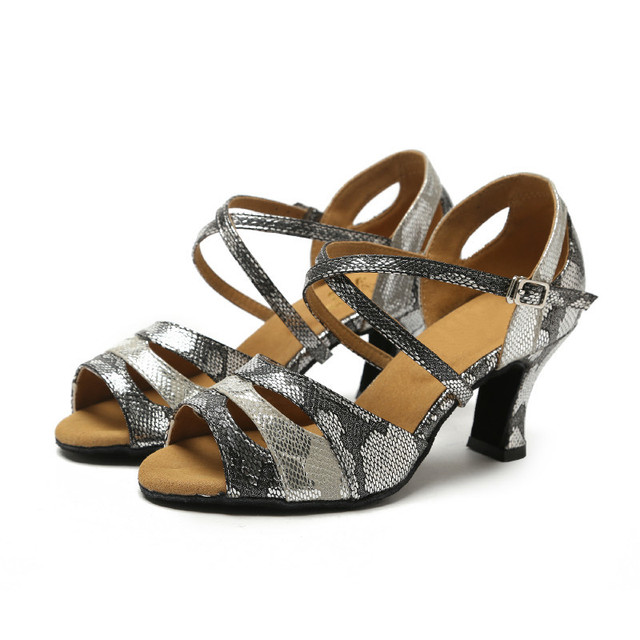 Ladies Womens Glitter Latin Dance Shoes Heeled Ballroom Tango Salsa Dance  Shoes Professional Comfortable Dancing Shoes 5987be6a5c7f