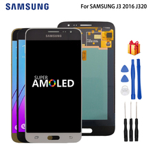 AMOLED LCD For SAMSUNG J3 2016 J320 J320F LCD Display Touch Screen Digitizer For SAMSUNG J3 2016 Screen LCD Display J320FN LCD lcd screen 15 6 inches wxga hd scren display panel lcd led for samsung np sf511 series slim
