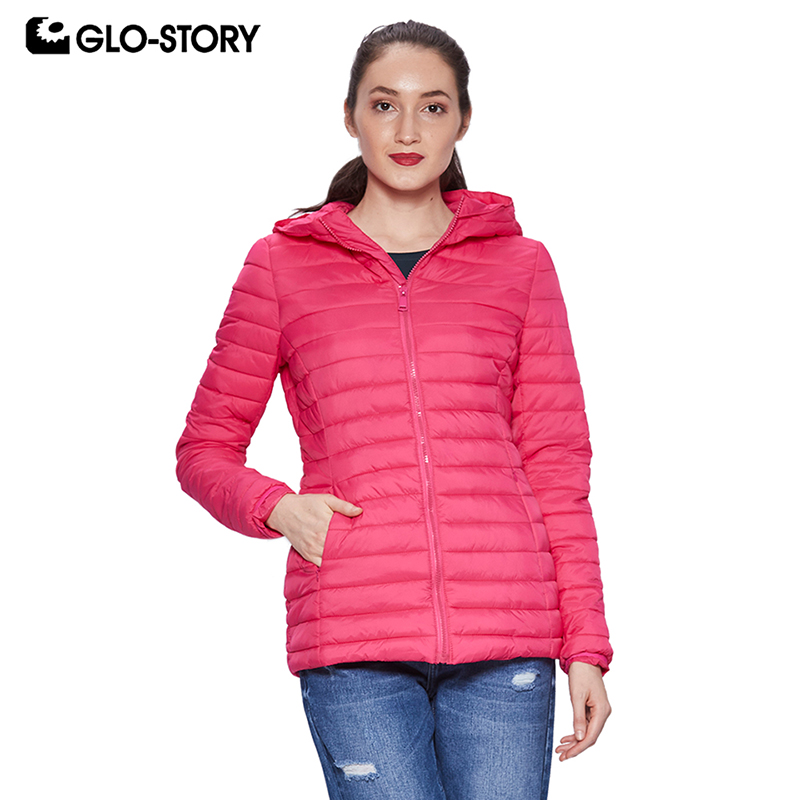 GLO STORY Women 2018 Basic Autumn and Winter Light Weight Thin Slim Fit Padded Coats Ladies