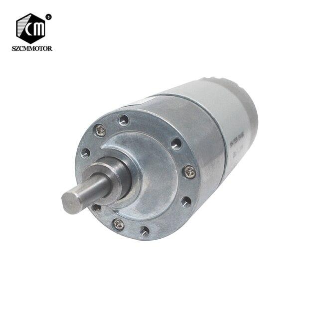 """12VDC 8 1000 סל""""ד מומנט גבוה נמוך סל""""ד DC מנוע כל מתכת נמוך רעש הילוך מנוע JGB37 545"""