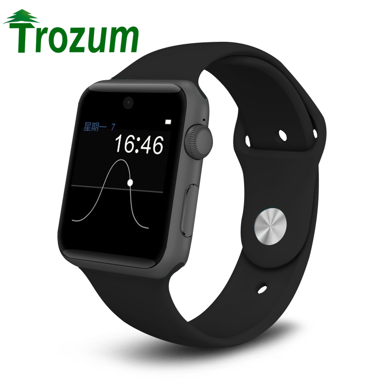 TROZUM Bluetooth Smart Watch Support SIM Card Wearable Devices SmartWatch For apple Android pk A9 iwo 1:1 dz09 gt08 watch dz09 smart watch bluetooth smartwatch for apple samsung android ios phone wearable watch smart mobile syn sim pk gt08 gv18 m26